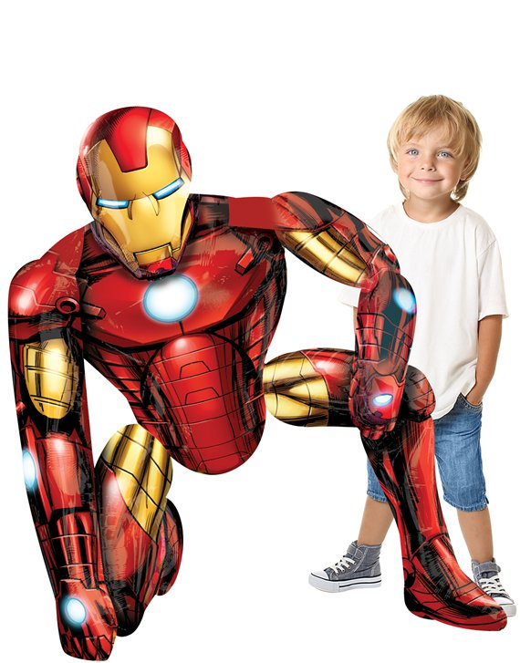 Globo Airwaler Iron Man - 115cm metalizado