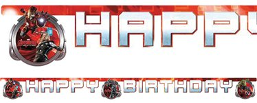 Banner Happy Birthday de La Era de Ultron