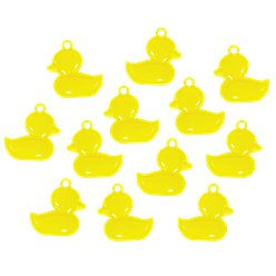 Favores de Baby Shower Patitos Amarillos Charms
