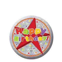 Insignia holográfica Happy Birthday-5,5cm
