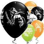 Globos de Star Wars Happy Birthday-11'' Látex- pack de 25