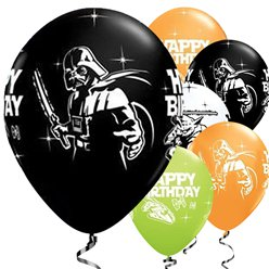 "Globos de Star Wars Happy Birthday-11"" Látex- pack de 25"