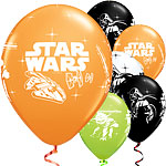 Globos de Star Wars-11'' Látex- pack de 25