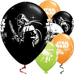 "Globos de Star Wars-12"" Látex-pack de 6"