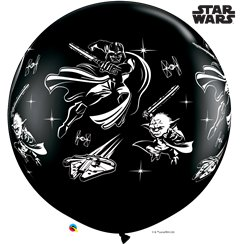 Globo Giante Negro Star Wars - Látex 91cm