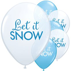 Globos Let it Snow - 28cm - Látex