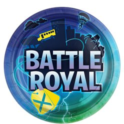 Platos de papel Battle Royal - 23cm