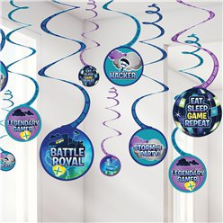 Decoraciones colgantes en espiral Battle Royal