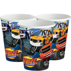 Vasos de Blaze y los Monster Machines-Vasos de cartón para fiesta de 266ml