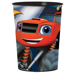 Vaso decorado de plástico de Blaze y los Monster Machines