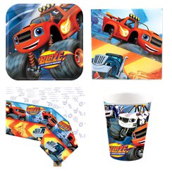 Pack de fiesta de Blaze y los Monster Machines- Pack ahorro para 8