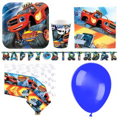 Pack de fiesta de Blaze y los Monster Machines- Pack de Lujo Set para 8 personas