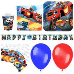 Pack de fiesta de Blaze y los Monster Machines- Pack de lujo Set para 16 personas
