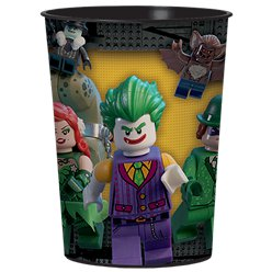 Vaso decorativo de plástico Lego Batman-455ml