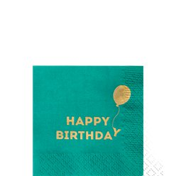 Servilletas de Papel Happy Birthday - 25cm