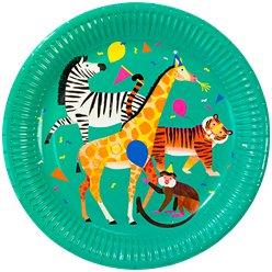 Platos de Papel Fiesta Animal - 23cm
