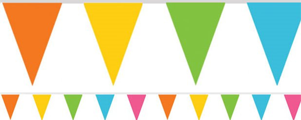 Banderines de papel multicolores-4,5m