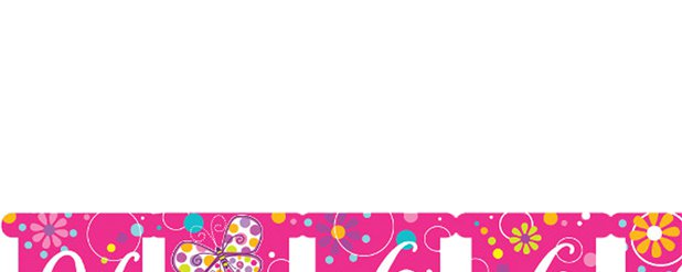 Banner de letras Mariposa Happy Birthday