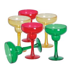 Mini Copas Plásticas Multicolor para Margarita - 42ml