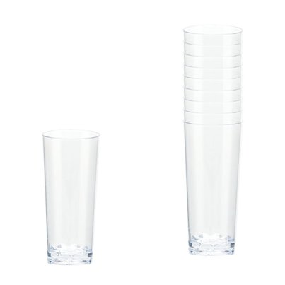 Mini Vasos Largos Plásticos Transparentes - 56ml