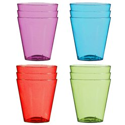 Vasos Plásticos Shot Multicolor - 57ml