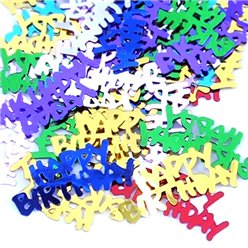 Confetti multicolores Happy Birthday