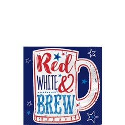 Servilletas Red, White & Brew - 25cm