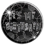 "Insignia negra ""It´s My Birthday""-15cm"