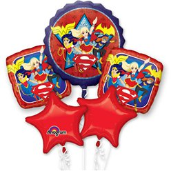 Bouquet de globos DC Super Hero Girls-Surtido metalizado variado
