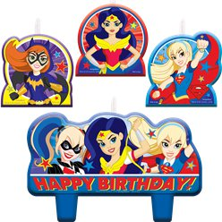Velas para tarta DC Super Hero Girls