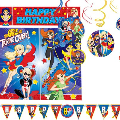 Kit de decoración DC Superhero Girls