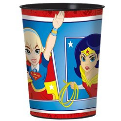 Vaso decorado de plástico DC Super Hero Girls - 455ml