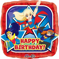Globo Happy birthday de las DC Super Hero Girls - metalizado 45cm