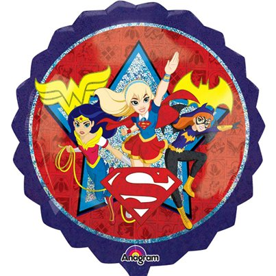 Globo Superforma DC Super Hero Girls - metalizado 71cm