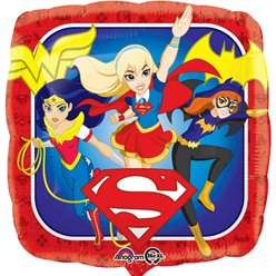 Globo de las DC Super Hero Girls - metalizado 45cm