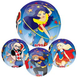 Globo Orbz de DC Super Hero Girls - 40cm - Papel de aluminio