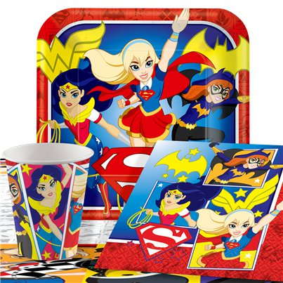 Pack de fiesta DC Superhero Girls- Pack ahorro para 8