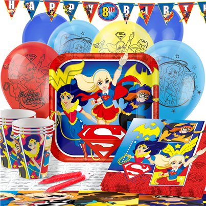 Pack de fiesta DC Superhero Girls- Pack Deluxe para 16