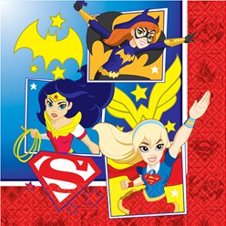 Servilletas DC Super Hero Girls-Doble capa de papel