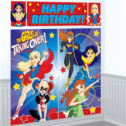 Fondo photocall DC Super Hero Girls-1,5m