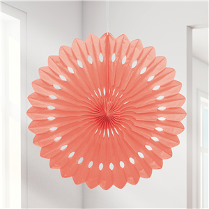 Abanico decorativo color Coral - 41cm