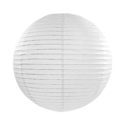 Lámpara Blanca De Papel - 35cm (Decoración)