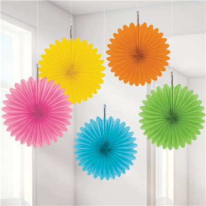 Rosetores de papel decorativos multicolores-15cm