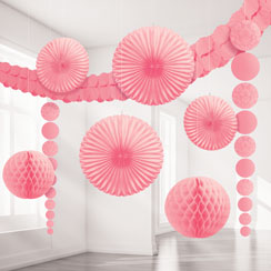 Kit de Decoración Rosa con Diseño Damasco