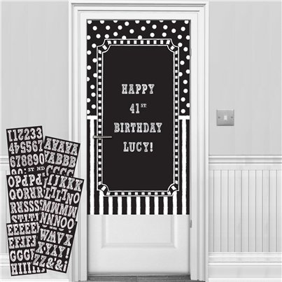 Kit Decoración para Puerta Personalizable Negro y Blanco