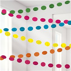 Cuerdas brillantes multicolore para decorar-2,1m