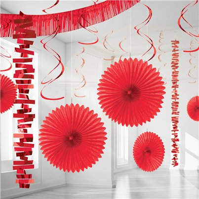 Kit de Decoración Papel Detalizado Rojo - Decoración