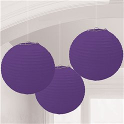 Lámparas decorativas de papel morado-24cm