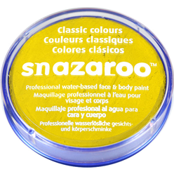 Pintura para el rostro Snazaroo color amarillo brillante - 18ml