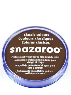 Pintura para el rostro Snazaroo color marrón - 18ml